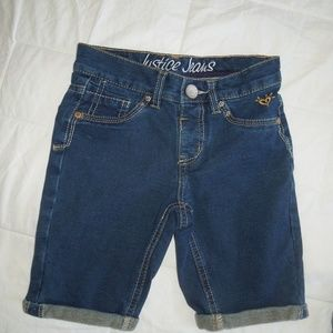 NWOT Girls size 8 Justice stretch jean shorts